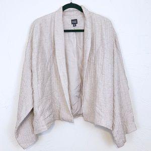 Eileen Fisher Crinkle Silk Kimono Jacket XL